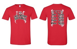 Weeping Water Softball fan gear tee shirt ( free shipping to club)