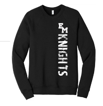 ADULT Knights Bella and Canvas crew sweatshirt