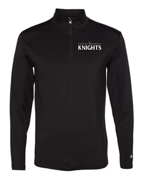 Augusta Ladies Quarter-Zip   (Black w/white print)