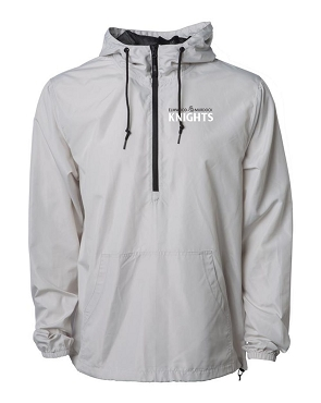 Independent Brand light  Unisex Windbreakers (Black with white,  print) SMOKE