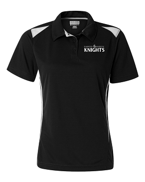Augusta      Mens POLO        (Black with white, white print)