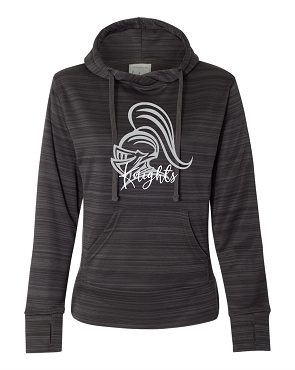 J America Ladies Hoodie  (dark heathered grey)  These do fit more like a ladies sweatshirt so size accordingly