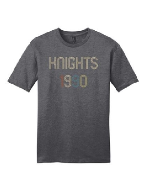 Knights 1990 unisex district tri blend tee     Will be delivered to SOS
