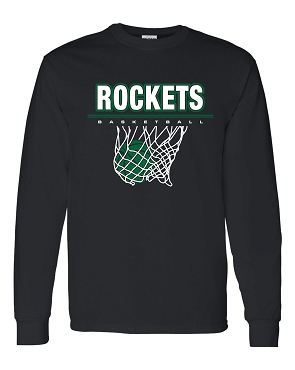Rockets Basketball long sleeve Adult