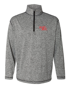 Featherlite light weight quarter zip with Nebraska design