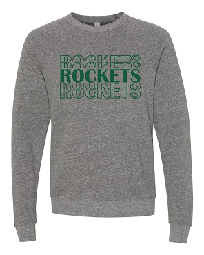 Rockets stacked youth crew sweatshirt
